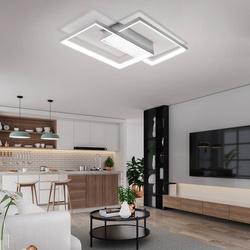 Lampa Sufitowa Dekoracyjna LED zmienna barwa światła kolor biały Modern 48W + Pilot