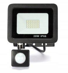 Naświetlacz LED 20W z czujnikiem ruchu barwa biała zimna