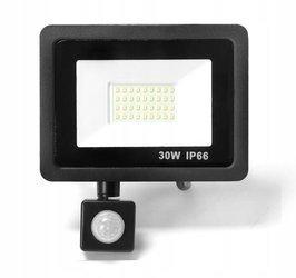 Naświetlacz LED 30W z czujnikiem ruchu barwa biała zimna